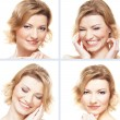 Collage with nine portraits — Stockfoto #25309643