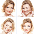 Collage with nine portraits — Stockfoto