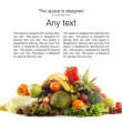Pile of different fruits and vegetables — Stockfoto