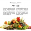 Pile of different fruits and vegetables - Stock Photo