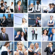 Business, time, money, and success: collage made of many different pictures — Stok fotoğraf