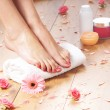 Spa compositions of sexy female legs — Stock Photo #25309881