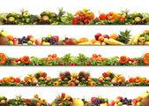 5 voeding texturen — Stockfoto