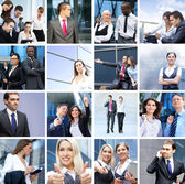 Business, time, money, and success: collage made of many different pictures — Stock Photo