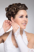 Giovane e bella sposa — Foto Stock