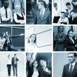 Stock Photo: A business collage with many young and smart people