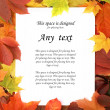 Colorful autumn frame — Stock fotografie