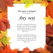 Colorful autumn frame — Stock Photo #29549275