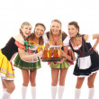 Stock Photo: Young and beautiful bavarian girls