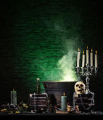 Halloween still-life background — Stock Photo