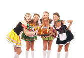 Young and beautiful bavarian girls — Stock Photo