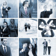Businesspeople, time, money and success — Stock Photo