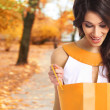 Young beautiful woman with some shopping bags isolated on white — Stock Photo #32183989