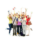 Young and happy teenagers hanging out together — Stock Photo