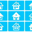 Collection of the different house illustration — Stock Photo