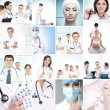 Hospital workers nurses and interns — Stock Photo #40885207