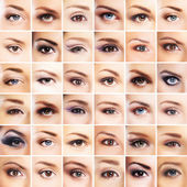 Female eyes collection — Stock Photo
