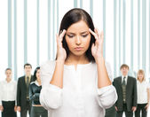 Mulher em stress — Fotografia Stock