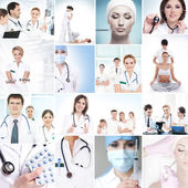 Hospital workers nurses and interns — Stock Photo
