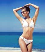 Beautiful woman in a swimsuit — Stock Photo