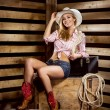 Cowgirl in western style — Stock Photo #45261955