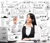 Manager working in office — Stock Photo
