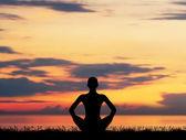 Astral meditation. — Stock Photo