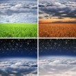 Collection of different landscape collages — Stok fotoğraf #46453543