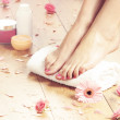 Spa compositions of sexy female legs — Stock Photo #47260377