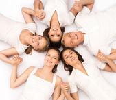 Smiling teenage friends — Stock Photo