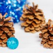Christmas decoration with cone - Stock Photo