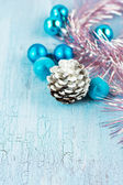Christmas decoration with cone — Stock Photo
