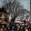 Stock Photo: Christmas market on Boulevard Montmartre in Paris