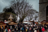 Christmas market on the Boulevard Montmartre in Paris — Stock Photo