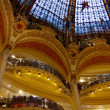 Christmas decoration in Galeries Lafayette - Stockfoto