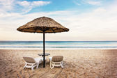 Seascape with two chaise longues — Stock Photo