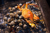 Seafood, crab and mussels (shellfish) — Foto de Stock