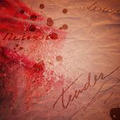 Cartolina di san valentino d'epoca con absract rosa — Foto Stock