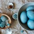 Blue easter eggs still life — Stock Photo