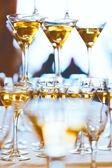 Celebration. Concept picture of champagne glasses. — Stock Photo