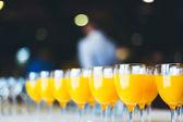 Fresh orange juice. Catering drinks. — Stock Photo