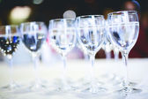Pure drinking water in glasses — Stock Photo