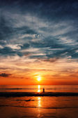 Epic sunset at the ocean — Stock Photo