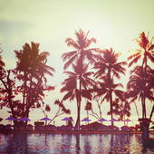Tropical beach. Vintage instagram effect. — Stock Photo