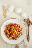 Fried rice with seafood. Asian cuisine. — Stock Photo