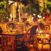 Night street cafe — Stock Photo