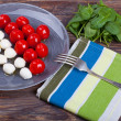 Closeup of Caprese Salad — Stock Photo