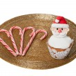 Christmas cupcakes isolation — Stock Photo #37451021