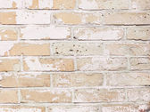 Background wall brick, white, beige texture — Stock Photo