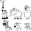 Royalty-Free Stock Vector Image: Set of cartoon animals